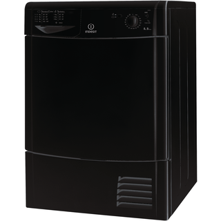 Indesit EcoTime IDC 8T3 B K (UK) Tumble Dryer in Black