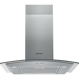 Wall mounted cooker hood: chimney design, 60cm