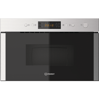 Micro-ondes encastrable Indesit : couleur inox