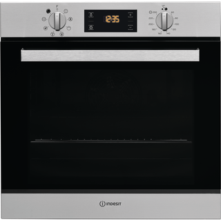 Four encastrable Indesit : couleur inox, pyrolyse
