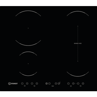 Induction glass-ceramic hob