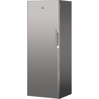 Freestanding upright freezer: silver colour