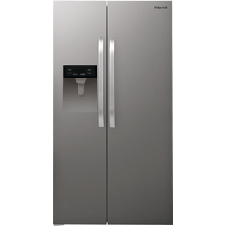 Hotpoint Side By Side American Fridge Inox Color Sxbhe