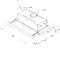 Liesituuletin - Kaapiston alle asennettava teleskooppimalli - 60 cm - AKR 749 WH