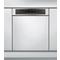 Beépíthető, 14 terítékes, külső vezérlőpaneles mosogatógép (60 cm széles) WBO 3T332 P X
