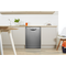 Dishwasher: full size, silver colour