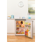 Freestanding fridge: silver colour
